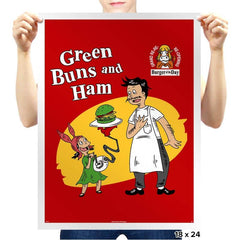 Green Buns and Ham - Prints - Posters - RIPT Apparel