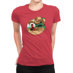 An Amazing Sand Castle - 80s Blaarg - Womens Premium - T-Shirts - RIPT Apparel