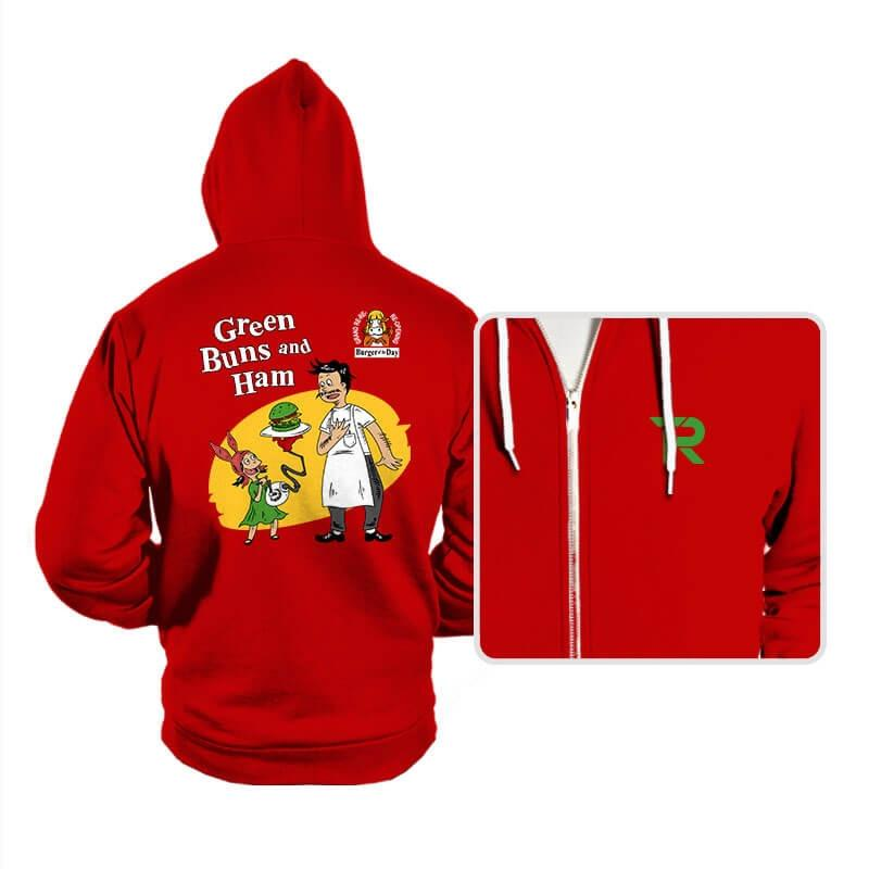 Green Buns and Ham - Hoodies - Hoodies - RIPT Apparel