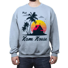 Visit Kame-House - Crew Neck Sweatshirt - Crew Neck Sweatshirt - RIPT Apparel