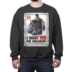 Avalanche Needs You - Crew Neck Sweatshirt - Crew Neck Sweatshirt - RIPT Apparel