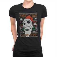 Sandy Claws - Ugly Holiday - Womens Premium - T-Shirts - RIPT Apparel