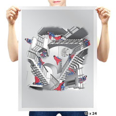 Strange Stairs - Prints - Posters - RIPT Apparel