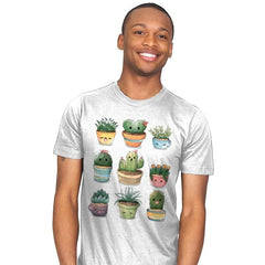Succulents Kawaii - Mens - T-Shirts - RIPT Apparel