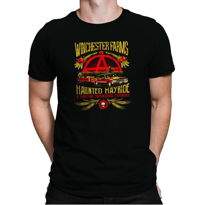 Winchester Farms Haunted Hay Ride Exclusive - Mens Premium - T-Shirts - RIPT Apparel