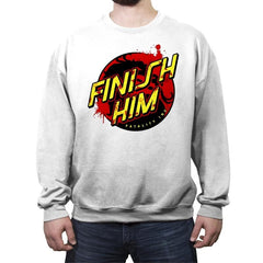 Finish Him! - Crew Neck Sweatshirt - Crew Neck Sweatshirt - RIPT Apparel
