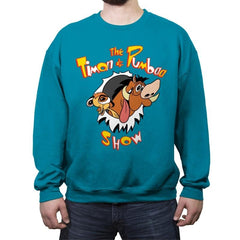 The Timon and Pumbaa Show - Crew Neck Sweatshirt - Crew Neck Sweatshirt - RIPT Apparel
