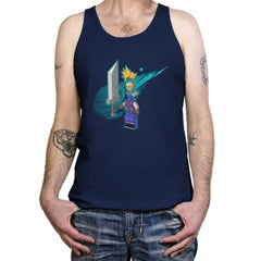 The Blocky Hero of Midgar Exclusive - Tanktop - Tanktop - RIPT Apparel