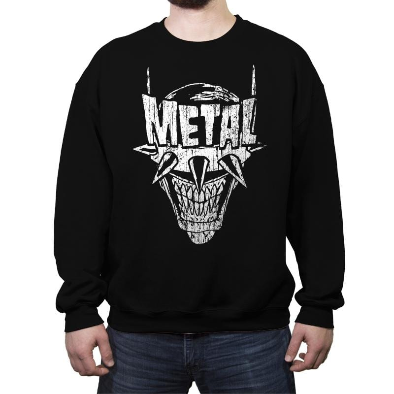 Heavy Metal Laughing-Bat - Anytime - Crew Neck Sweatshirt - Crew Neck Sweatshirt - RIPT Apparel