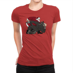 Santa vs Krampus - Womens Premium - T-Shirts - RIPT Apparel