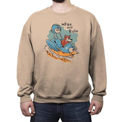 Mega and Rush - Crew Neck Sweatshirt - Crew Neck Sweatshirt - RIPT Apparel
