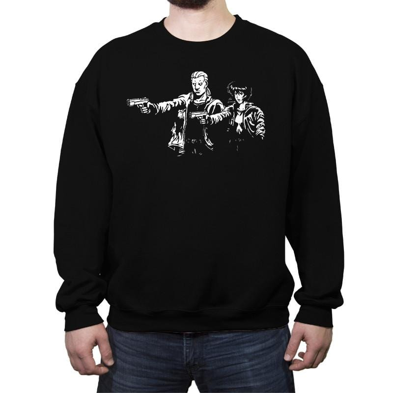 Cyborg Fiction - Crew Neck Sweatshirt - Crew Neck Sweatshirt - RIPT Apparel