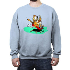 Jon and a Lasagna Lover - Crew Neck Sweatshirt - Crew Neck Sweatshirt - RIPT Apparel