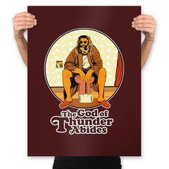 The God of Thunder Abides - Anytime - Prints - Posters - RIPT Apparel