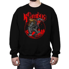 Papa Krampus - Crew Neck Sweatshirt - Crew Neck Sweatshirt - RIPT Apparel