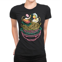 Floating Ramen - Womens Premium - T-Shirts - RIPT Apparel