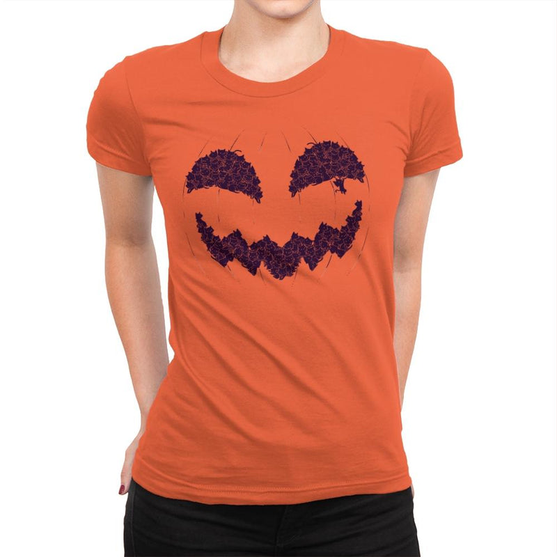 Pumpkin Cat - Anytime - Womens Premium - T-Shirts - RIPT Apparel