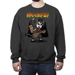 Kiss the Krampus - Crew Neck Sweatshirt - Crew Neck Sweatshirt - RIPT Apparel
