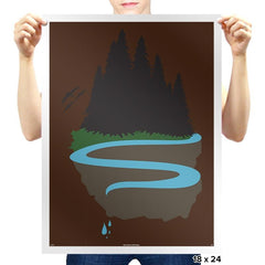 Cliffside Paradise Exclusive - Prints - Posters - RIPT Apparel