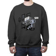 Robot Problems - Crew Neck Sweatshirt - Crew Neck Sweatshirt - RIPT Apparel