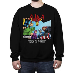 Straight Out of Infinity  - Anytime - Crew Neck Sweatshirt - Crew Neck Sweatshirt - RIPT Apparel