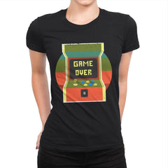 Video Game Over - Womens Premium - T-Shirts - RIPT Apparel