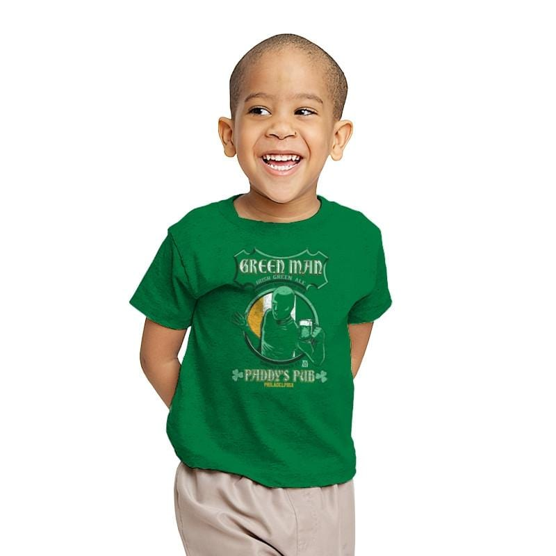 Green Man Irish Green Ale - Youth - T-Shirts - RIPT Apparel