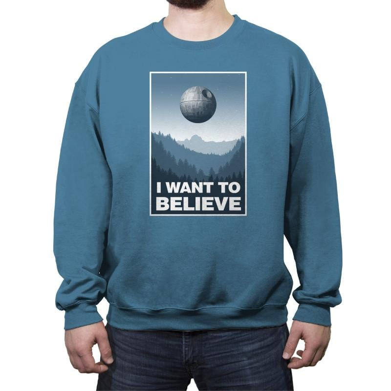 I Want To Believe - Crew Neck Sweatshirt - Crew Neck Sweatshirt - RIPT Apparel