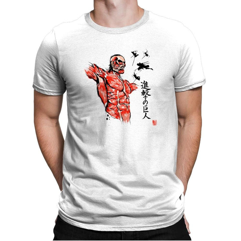 Flying For Freedom - Sumi Ink Wars - Mens Premium - T-Shirts - RIPT Apparel