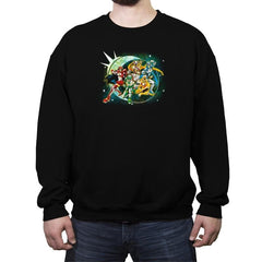 Sailor Rangers GO! - Crew Neck Sweatshirt - Crew Neck Sweatshirt - RIPT Apparel