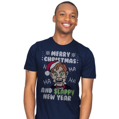 Slappy New Year! - Ugly Holiday - Mens - T-Shirts - RIPT Apparel