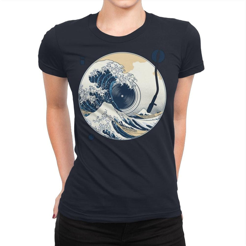 The Great Wave off Music - Womens Premium - T-Shirts - RIPT Apparel