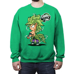 My Little Broly B - Crew Neck Sweatshirt - Crew Neck Sweatshirt - RIPT Apparel