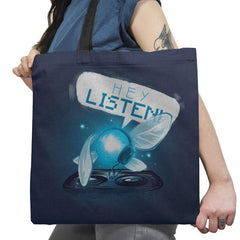 Hey Listen! - Art Attack - Tote Bag - Tote Bag - RIPT Apparel