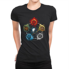 Dice Elements - Womens Premium - T-Shirts - RIPT Apparel