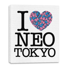 I Love Neo Tokyo - Canvas Wraps - Canvas Wraps - RIPT Apparel