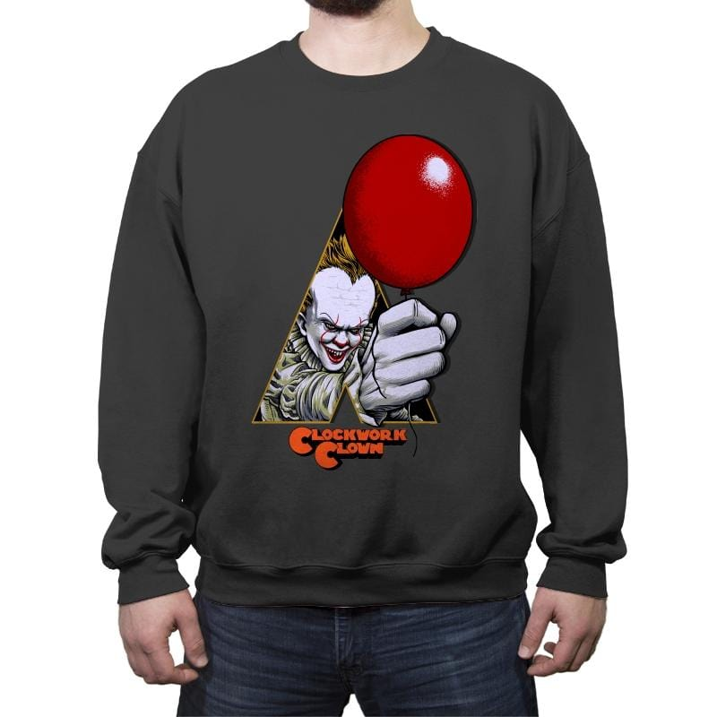A Clockwork Clown - Crew Neck Sweatshirt - Crew Neck Sweatshirt - RIPT Apparel