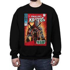 The Amazing Spartan - Crew Neck Sweatshirt - Crew Neck Sweatshirt - RIPT Apparel