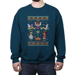 A Juicy Delicious Christmas - Crew Neck Sweatshirt - Crew Neck Sweatshirt - RIPT Apparel