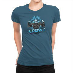 Do You Even Lift, Crow? Exclusive - Womens Premium - T-Shirts - RIPT Apparel