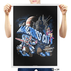 Visit Macross City Exclusive - Prints - Posters - RIPT Apparel