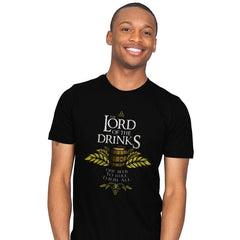 The Lord of the Drinks - Mens - T-Shirts - RIPT Apparel