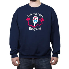 Recycle  - Crew Neck Sweatshirt - Crew Neck Sweatshirt - RIPT Apparel
