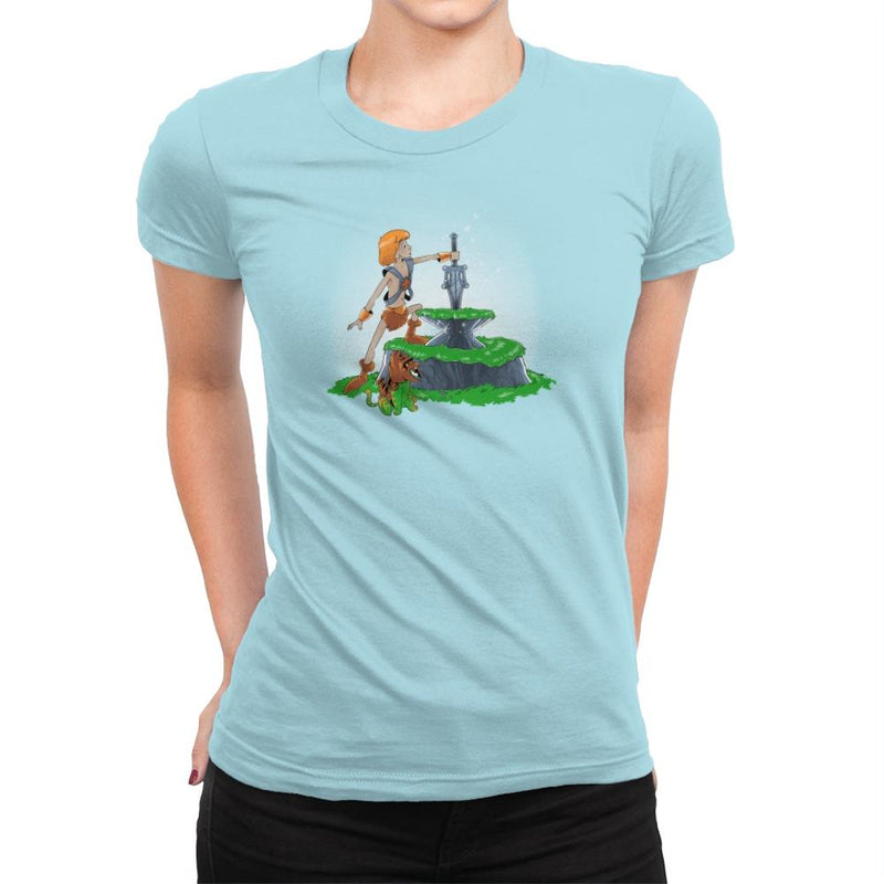 Power Sword and the Stone Exclusive - Womens Premium - T-Shirts - RIPT Apparel