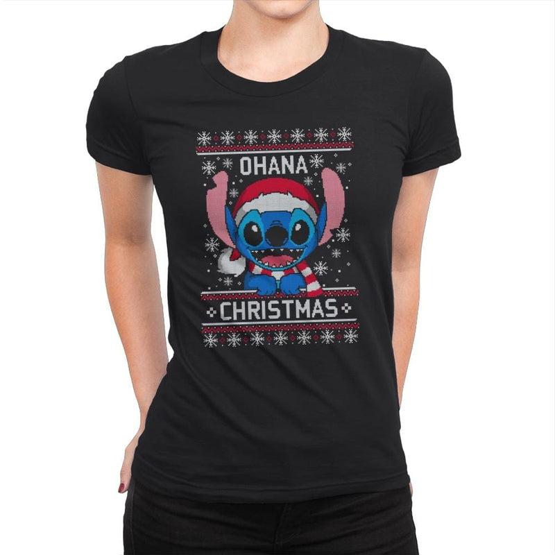Ohana Christmas - Ugly Holiday - Womens Premium - T-Shirts - RIPT Apparel