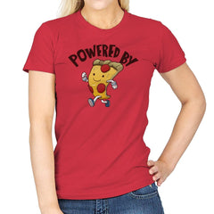 Powered By Pizza - Womens - T-Shirts - RIPT Apparel