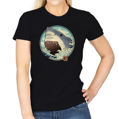 White Shark Attack! - Womens - T-Shirts - RIPT Apparel