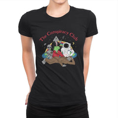 The Conspiracy Club - Womens Premium - T-Shirts - RIPT Apparel