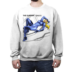 The Gunship: Samus - Record Collector - Crew Neck Sweatshirt - Crew Neck Sweatshirt - RIPT Apparel