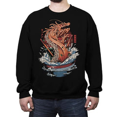 Ramen Dragon - Crew Neck Sweatshirt - Crew Neck Sweatshirt - RIPT Apparel